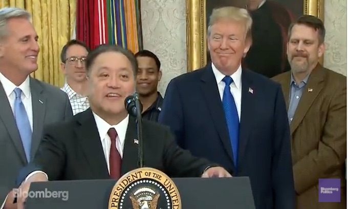 Trump brings Broadcom Ltd. 'home again'