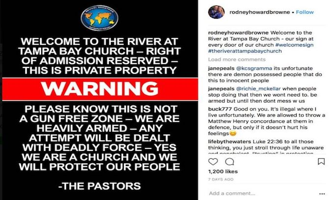 Tampa church is locked and loaded