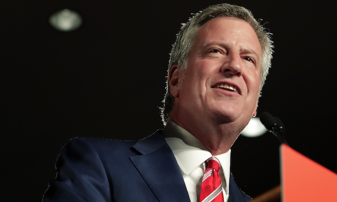 Mayor de Blasio tries to blame NYC's anti-Semitism on the right