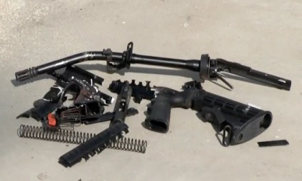 Man smashes his AR-15 'assault' weapon to prevent it from becoming 'part of a situation'
