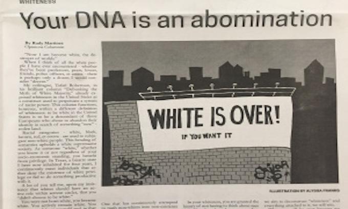 Student Newspaper Runs Anti-White Op-Ed; University President Calls It 'Racist'