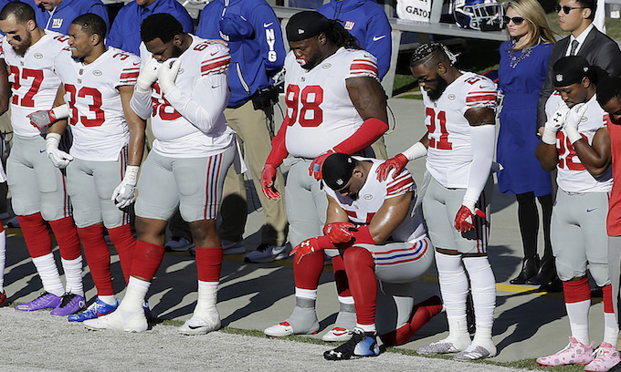 Giants Coach: 'We're gonna support the players' if they want to kneel for the national anthem