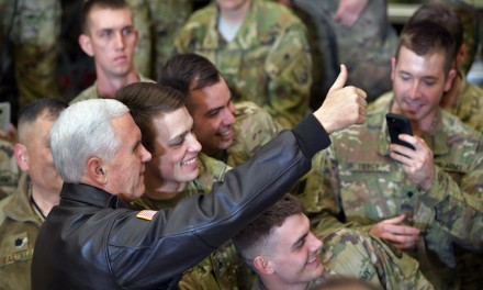 VP Mike Pence makes surprise visit to troops in Afghanistan