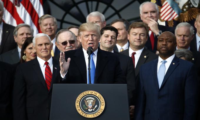 Donald Trump celebrates tax reform victory: 'A lot of fun when you win'