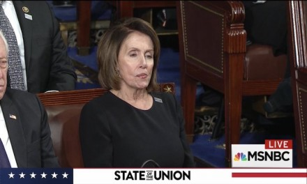 Democrats refuse to stand for Trump at State of the Union