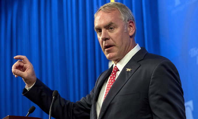 Zinke blames lawsuits by 'radical environmentalists' for creating more wildfires