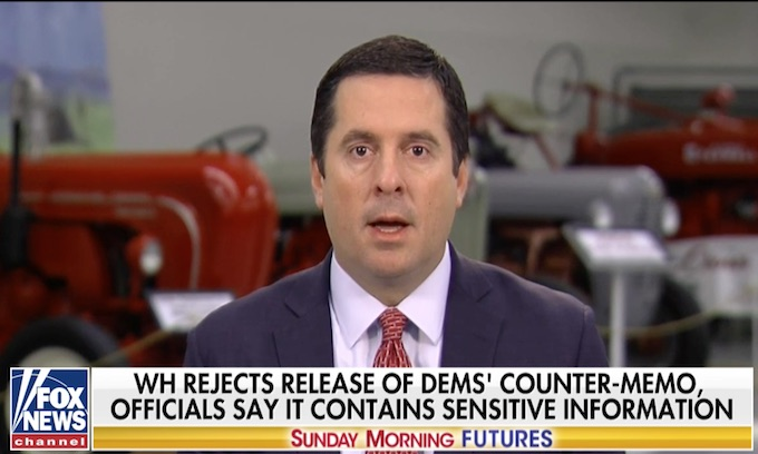 Devin Nunes wants Democrats' 'ridiculous' memo released
