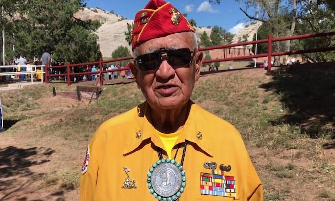 A Navajo code talker remembers Iwo Jima