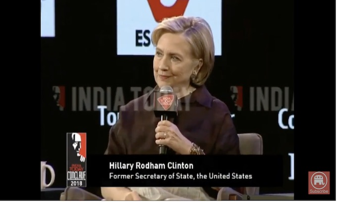 Hillary: Trump won 'backwards' voters who 'didn't like black people'; then there were stairs
