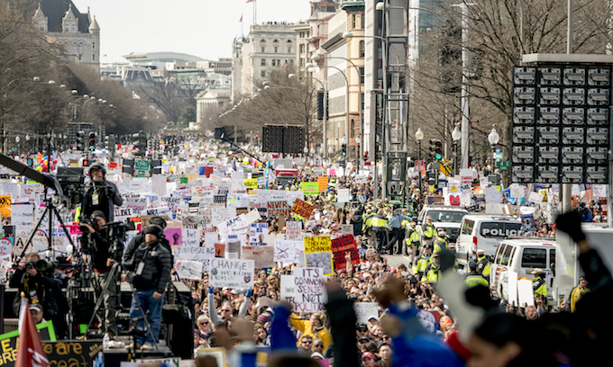 Teens just 10% of DC anti-gun rally