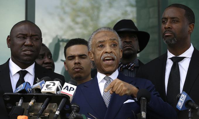 Al Sharpton eulogizes black man shot by police; criticizes Trump