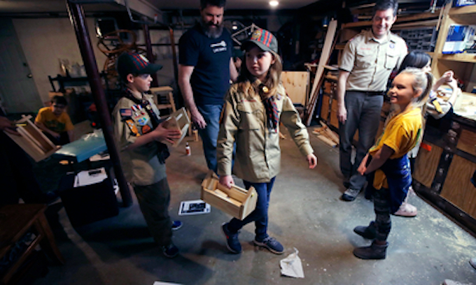 Thousands of girls moving in on the Cub Scouts
