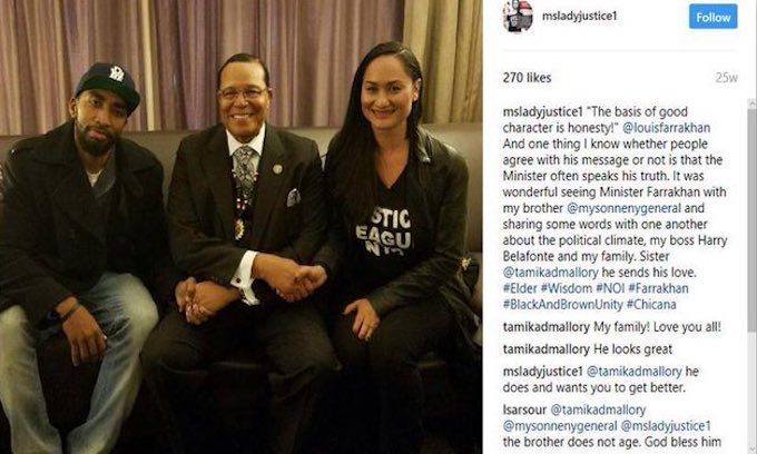 Women's March leader Tamika Mallory offers excuses for calling Louis Farrakhan the greatest of all time