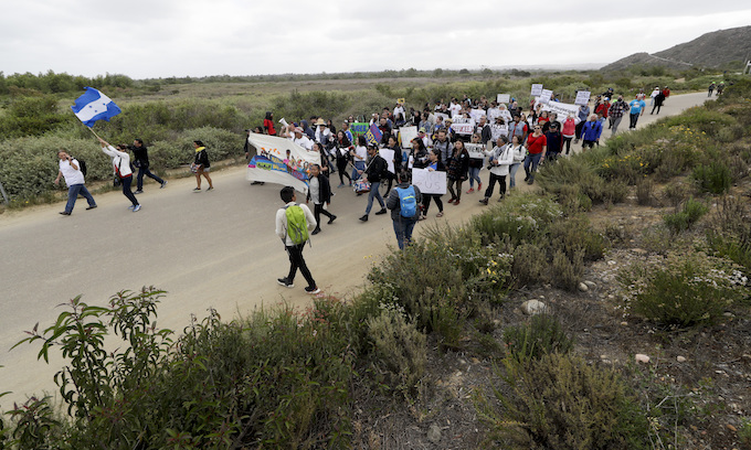U.S. tracking three migrant caravans, one with 12,000 people
