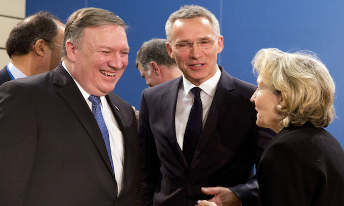 Pompeo on the job in Brussels NATO meeting
