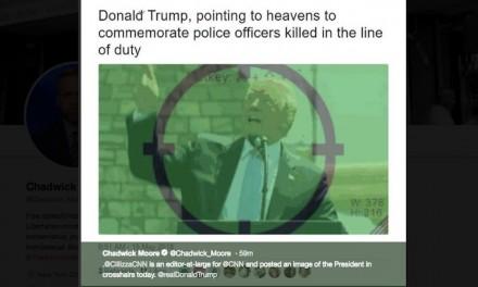 CNN's Chris Cillizza tweets image of Donald Trump in crosshairs