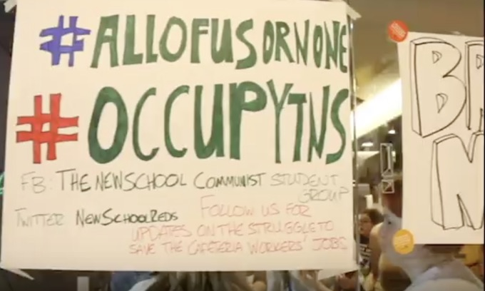 Communist Student Group occupies cafeteria over mass layoff threat to unionized workers