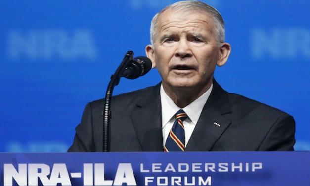 Oliver North readies NRA 'counterpunch' against gun-control activists' 'civil terrorism'