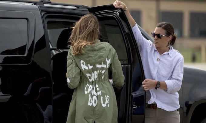 Trump explains Melania's 'I really don't care, do u?' jacket to 'fake news' media