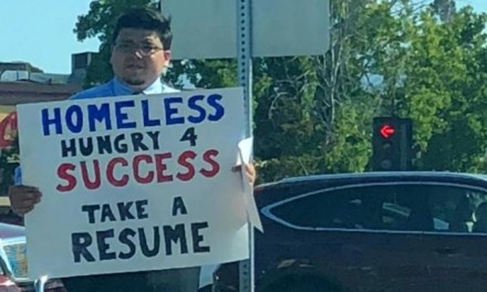 Instead of asking for money, homeless man gave out resumes. He's swamped with offers