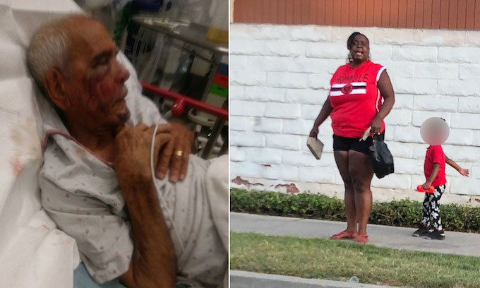 Woman arrested in attack on 91-year-old man told to 'go back' to Mexico, L.A. cops say