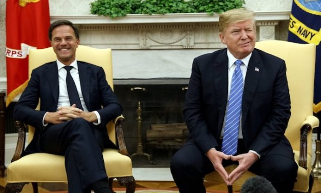 Mark Rutte, Dutch PM, amused by U.S. press gaggle's behavior, asks Trump: 'Is it always like this?'