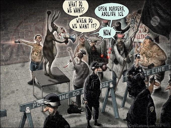 Open Border Democrats Hold a Riot