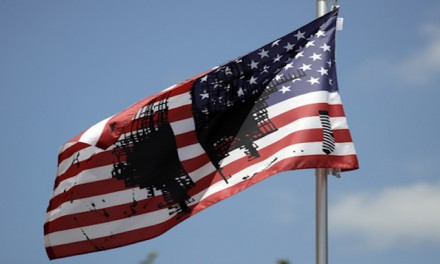 Univ. of Kansas flies desecrated US flag; Gov. tells them to take it down
