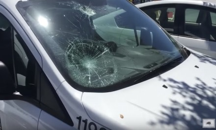Antifa in Berkeley smash windows of US Marine Corps recruiting office, city cars