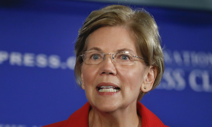 Elizabeth Warren focused on illegal alien families when asked about death of Mollie Tibbetts