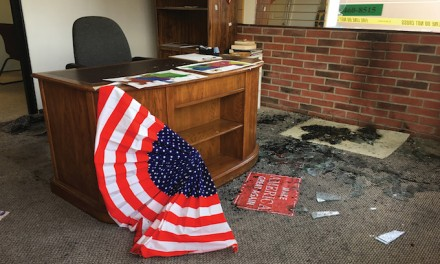 Arson at GOP office in Wyoming