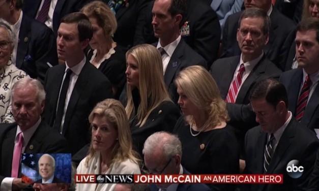 Why were Ivanka Trump and Jared Kushner at John McCain's memorial service?
