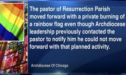 Northwest Side priest who burned rainbow banner removed from church effective immediately, 'must take time away from the parish'