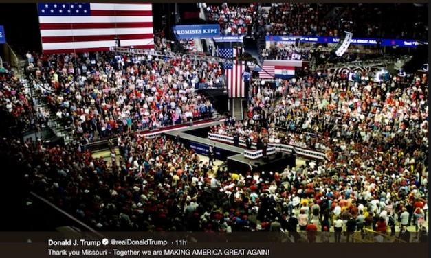 'Kavanaugh' chants erupt at Trump rally in Missouri
