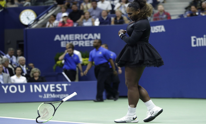 Spoiled brat of tennis claims sexism