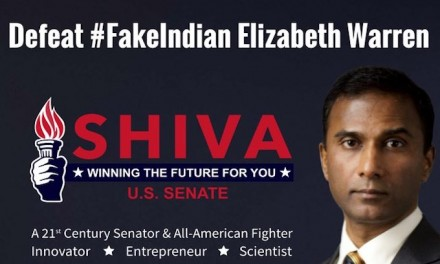 Real Indian candidate's father occupies Elizabeth Warren's office in debate protest