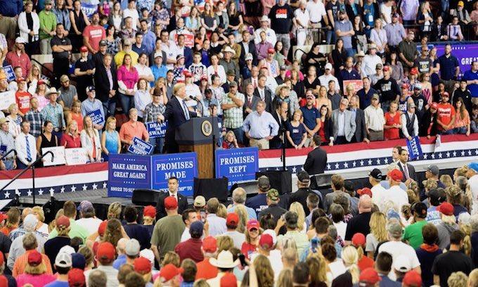Senate Democrats 'looking like fools' in opposing Brett Kavanaugh, Trump tells Montana rally crowd
