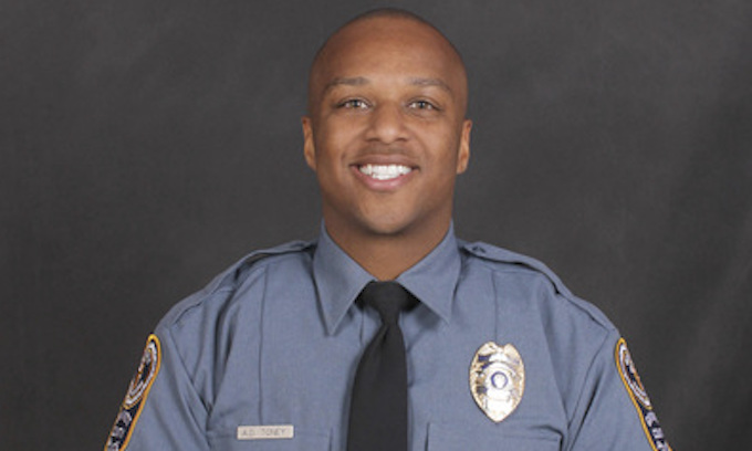 Black male suspected of killing black cop shot dead by other officers