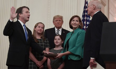 "Trump apologizes to Brett Kavanaugh for ""pain and suffering"" during swearing-in ceremony"