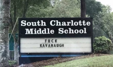 'Not Fake': Vulgar political jab at Kavanaugh on CMS middle school sign was real