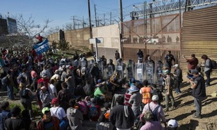 Central Americans rush US border, turned back with tear gas