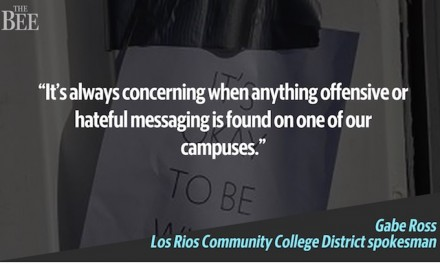 Incendiary: 'It's okay to be white' posters taken down 'immediately' on college campus
