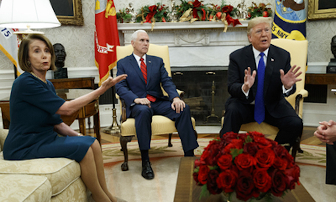 Pelosi brings stories about her meeting with Trump back to her people
