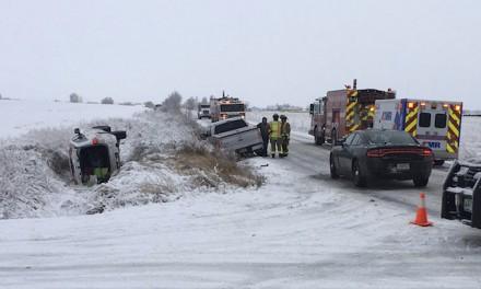 Fox news host flips car on icy Montana highway