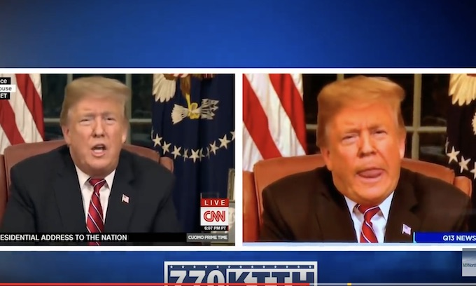 Fake News: Staffer fired after TV station airs altered Trump video