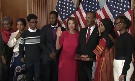 Ilhan Omar becomes first person to wear hijab in Congress