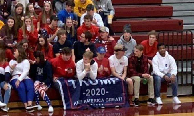 HS Basketball coach saw Trump banner in the stands as racism