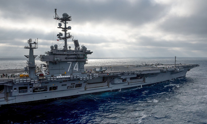 USS John C. Stennis holding Heathen religious services in carrier chapel