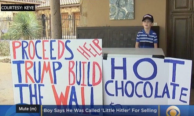 Austin boy called 'Little Hitler' for selling hot chocolate to raise 'over $9,000' for border wall