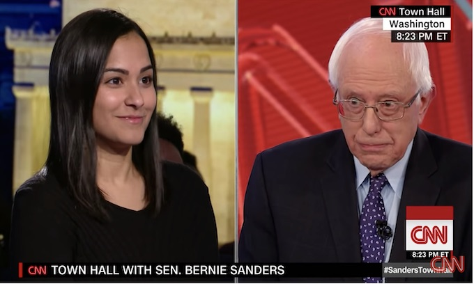 Bernie Sanders defines 'democratic socialism,' says living wage and free college are 'human rights'